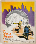 Baseball Collectibles:Tickets, 1936 World Series Program & Two Ticket Stubs - New York Yankeesvs. New York Giants. ...