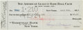 Baseball Collectibles:Others, 1924 Waite Hoyt Signed New York Yankees Payroll Check. ...