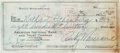 Boxing Collectibles:Autographs, 1965 Rocky Marciano Signed Check....