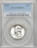 Washington Quarters, 1959 25C MS66+ PCGS. CAC. PCGS Population (638/6). NGC Census:(836/66). Mintage: 24,300,000. Numismedia Wsl. Price for pro...