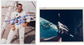 "Autographs:Celebrities, Richard Gordon Signed Color Photos (Two) Including a ""Red Number""Example. ... (Total: 2 Items)"