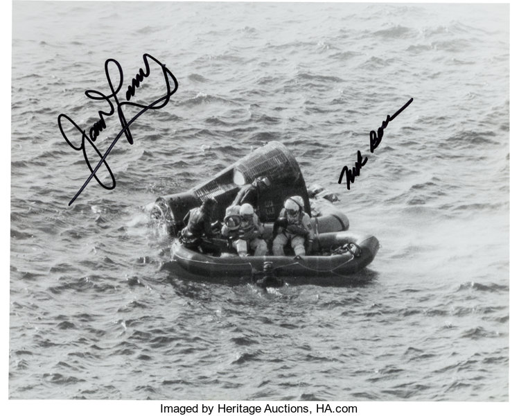 Gemini 7 Crew-Signed Recovery Photo     Autographs