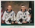 Autographs:Celebrities, Gemini 9A Crew-Signed White Spacesuit Color Photo. ...
