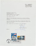 Autographs:Celebrities, Neil Armstrong Typed Letter Signed to West Point SuperintendentRegarding Army Football Games. ...