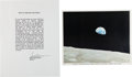 "Autographs:Celebrities, Apollo 8: Quote Signed by Borman with ""Earthrise"" Photo Signed byLovell. ... (Total: 2 Items)"