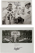 Autographs:Celebrities, Frank Borman Signed Apollo 8-Related Photos (Two). ... (Total: 2Items)