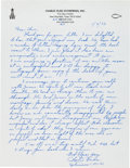 Autographs:Celebrities, Charlie Duke Autograph Letter Signed with Religious Content....(Total: 2 Items)