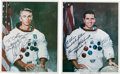 Autographs:Celebrities, Apollo 17 Moonwalkers: Matching Individual Signed White SpacesuitColor Photos. ... (Total: 2 Items)
