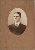 Baseball Collectibles:Others, Circa 1910 Ernest Barnard Signed Cabinet Photograph by CarlHorner....