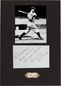 Autographs:Others, 1930's Lou Gehrig Handwritten Word....