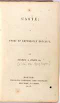 Books:Literature Pre-1900, [Anti-Slavery]. [Abolitionist novel about racial discrimination].[Reply Uncle Tom's Cabin]. Mary Hayden Pike (as ...