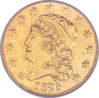 1825/1 $5 -- Reverse Repaired, Improperly Cleaned -- NCS. AU Details. BD-1, High R.5....(PCGS# 8133)