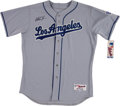 Basketball Collectibles:Uniforms, Magic Johnson Signed Los Angeles Dodgers Jersey....