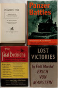 Books:World History, [Germany WWII] Lot of Four Important Eye-Witness/First Hand Military Accounts including: Seymour Freidin and William Richa... (Total: 4 Items)