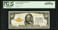 Small Size:Gold Certificates, Fr. 2404* $50 1928 Gold Certificate. PCGS Gem New 65PPQ.. ...