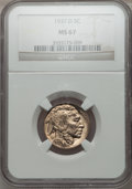 Buffalo Nickels: , 1937-D 5C MS67 NGC. NGC Census: (87/2). PCGS Population (88/1).Mintage: 17,826,000. Numismedia Wsl. Price for problem free...