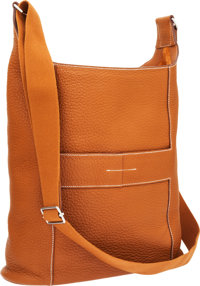 Hermes Gold Togo Leather Goodtimes Shoulder Bag