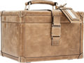 Luxury Accessories:Travel/Trunks, Brunello Cucinelli Gray Soft Leather Beauty Case Bag . ...