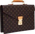 Luxury Accessories:Bags, Louis Vuitton Classic Monogram Canvas Serviette Briefcase Bag. ...
