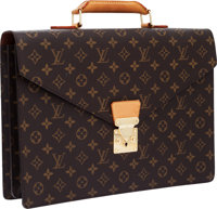 Louis Vuitton Classic Monogram Canvas Serviette Briefcase Bag