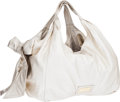 Luxury Accessories:Bags, Valentino Pale Gold Metallic Leather Nuage Hobo Bag with BowDetail. ...