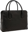 Luxury Accessories:Bags, Lana Marks Black Ostrich Jet Tote Bag. ...