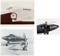Autographs:Celebrities, Test Pilots: Three Signed Photos. ... (Total: 3 Items)