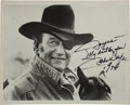 Movie/TV Memorabilia:Autographs and Signed Items, A John Wayne Signed Black and White Photograph, 1974....