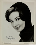Movie/TV Memorabilia:Autographs and Signed Items, An Audrey Hepburn Signed Black and White Photograph, Circa1950s....