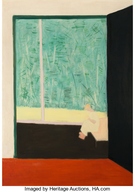 MILTON AVERY (American, 1885-1965)From the Studio, 1954Oil on canvas58 x 42 inches (147.3 x 106.7 cm)Signed and ...