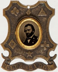 Political:Ferrotypes / Photo Badges (pre-1896), Ulysses S. Grant: 1868 Ferrotype Badge....