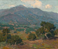 Fine Art - Painting, American:Modern  (1900 1949)  , EDGAR ALWIN PAYNE (American, 1883-1947). California Foothillswith San Gabriel Mountains in the Distance. Oil on canvas...