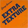Music Memorabilia:Autographs and Signed Items, George Harrison Signed Extra Texture (Read All About It) LP(Apple/EMI PAS10009, 1975)....