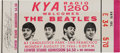 Music Memorabilia:Tickets, Beatles Unused Candlestick Park Ticket, Their Final Concert (1966). ...