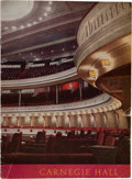 Music Memorabilia:Memorabilia, Beatles Carnegie Hall Program (1964)....