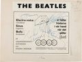 Music Memorabilia:Autographs and Signed Items, Beatles Signed Advertising Artist's Proof (1964). ...