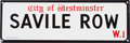 Music Memorabilia:Memorabilia, Beatles Related: Savile Row Street Sign....