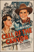 "Movie Posters:Western, Call of the Canyon (Republic, 1942). One Sheet (27"" X 41"").Western.. ..."