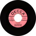 "Music Memorabilia:Recordings, Tony Sheridan and The Beat Brothers ""My Bonnie"" Promo 45 (Decca31382 pink promo label, 1962)...."