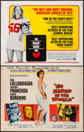 "Movie Posters:Drama, Go Naked in the World & Other Lot (MGM, 1961). Half Sheets (2)(22"" X 28"") Style B & Regular. Drama.. ... (Total: 2 Items)"
