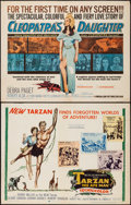 "Movie Posters:Adventure, Tarzan the Ape Man & Other Lot (MGM, 1959). Half Sheets (2)(22"" X 28""). Adventure.. ... (Total: 2 Items)"