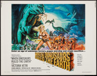 """When Dinosaurs Ruled the Earth (Warner Brothers, 1970). Half Sheet (22"""" X 28""""). Fantasy"""