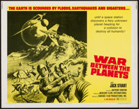 "War Between the Planets (Fanfare, 1971). Half Sheet (22"" X 28""). Science Fiction"
