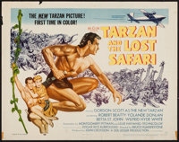 "Tarzan and the Lost Safari (MGM, 1957). Half Sheet (22"" X 28""). Adventure"