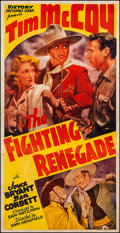 "Movie Posters:Western, The Fighting Renegade (Victory, 1939). Three Sheet (41"" X 80"").Western.. ..."