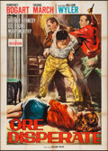 "Movie Posters:Film Noir, The Desperate Hours (Paramount, R-1960s). Italian 2 - Foglio (39.5""X 55""). Film Noir.. ..."