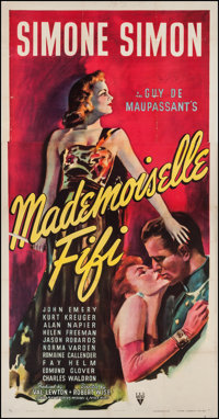 "Mademoiselle Fifi (RKO, 1944). Three Sheet (41.5"" X 79""). Drama"