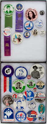 Ronald Reagan: Thirty-one [31] Campaign Buttons
