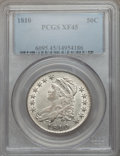 Bust Half Dollars: , 1810 50C XF45 PCGS. PCGS Population (88/304). NGC Census: (74/310).Mintage: 1,276,276. Numismedia Wsl. Price for problem f...