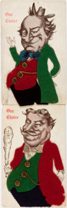 Political:Small Paper (1896-present), William Jennings Bryan and William Howard Taft: Two Felt Novelty Postcards....